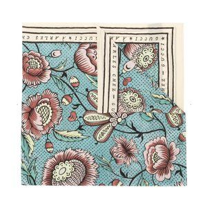 Gucci Sable Watercolor Floral Print Scarf in Blue